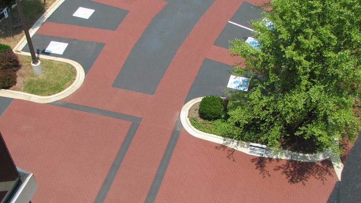 Stamped walkways