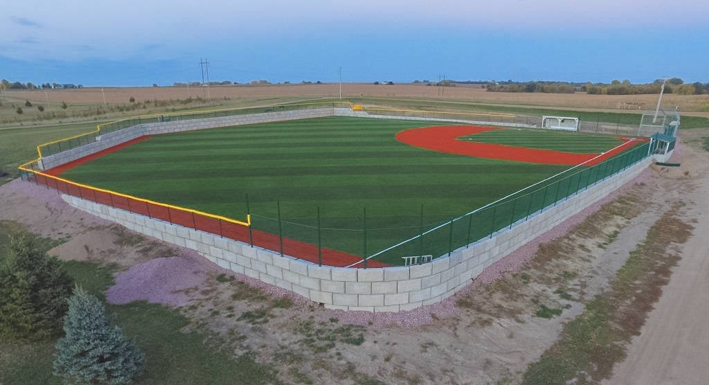 Baseball Field Concrete Wall