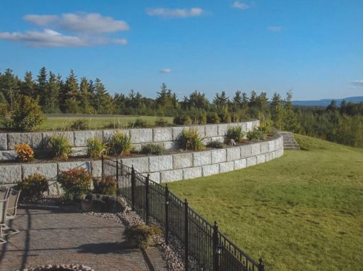 Residential Concrete Retaining Wall
