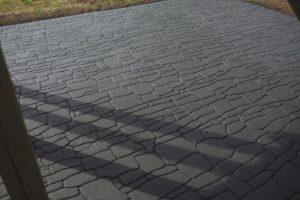 random slate stone look walkway