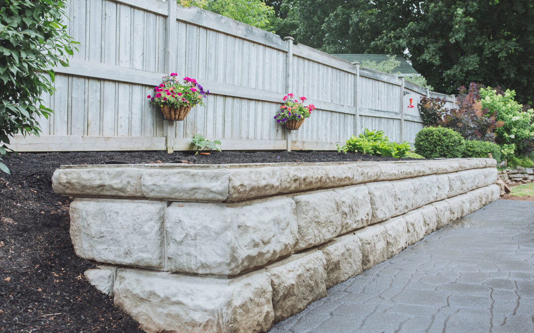 Sussex Garden retaining wall