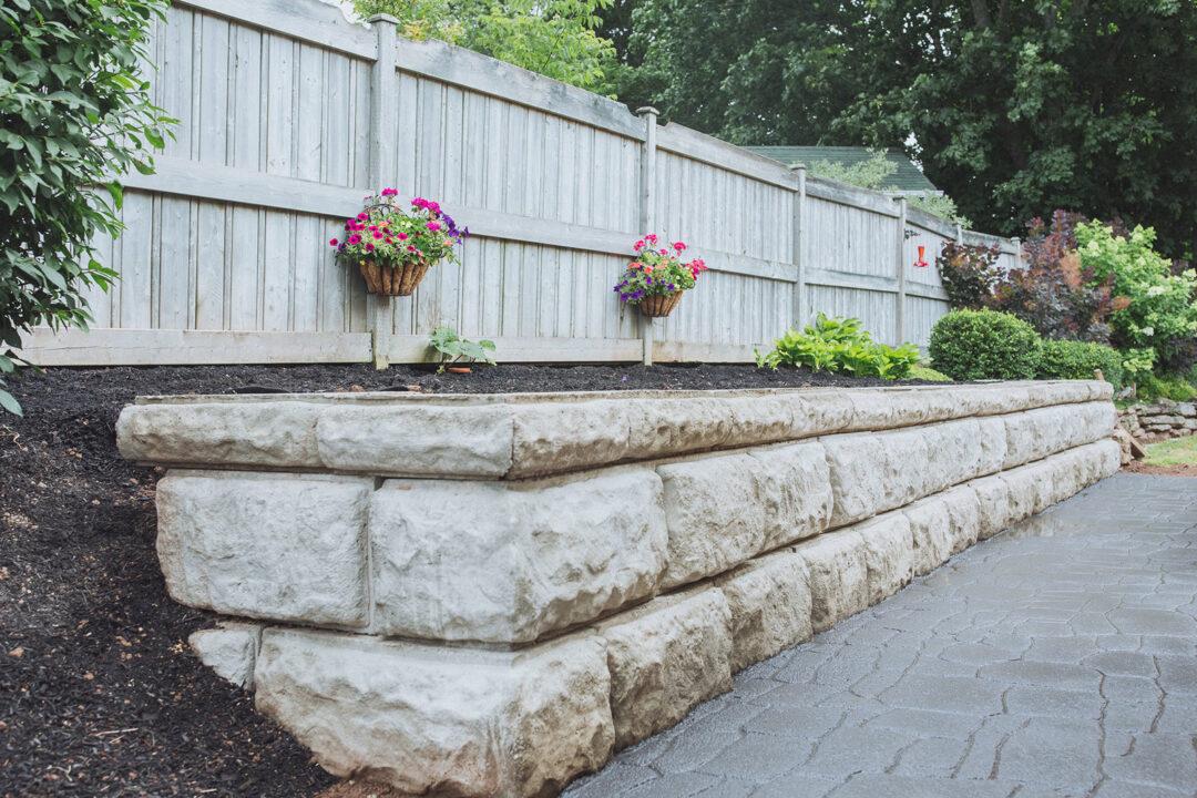 garden retaining wall in sussex
