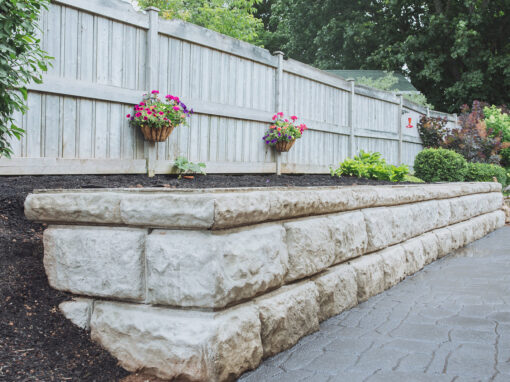 Sussex Garden retaining wall
