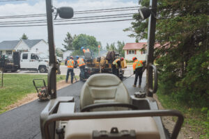 Brown's Paving team working hard